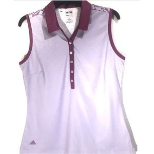 Adidas Climacool Women's Sleeveless Golf Polo Med